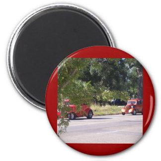 Vieille voiture magnet rond 8 cm
