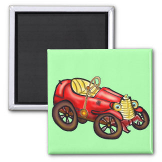 Vieille voiture rouge aimants