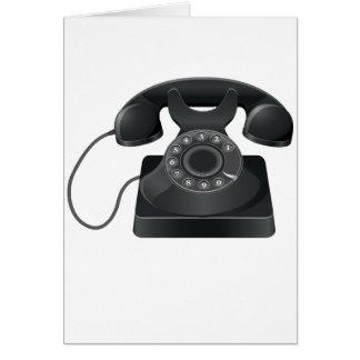 Vieilles cartes de note noires de téléphone