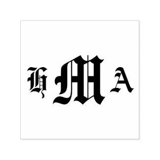 Vieilles initiales anglaises - Auto-Encrage du Tampon Auto-encreur