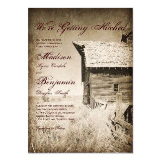 Vieilles invitations rustiques de mariage