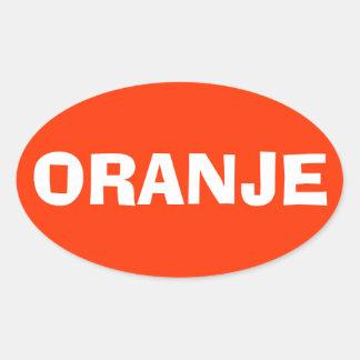 """VIER Nederland """"Oranje """" Ovale Sticker"""