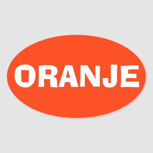 "VIER Nederland ""Oranje "" Sticker"