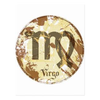 Vierge de grunge d'astrologie carte postale