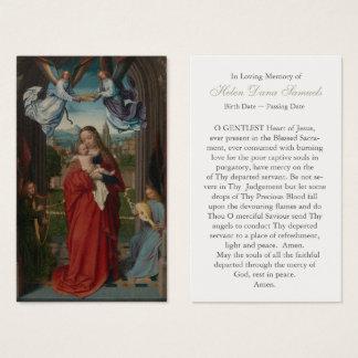 Vierge et enfant funèbres de carte de prière