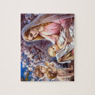 Vierge Marie béni et enfant Jésus de nourrisson Puzzle