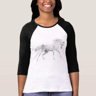 Vierge T-shirt des femmes de licorne le 3/4