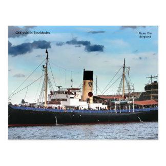 Vieux bateau à Stockholm, Ola de photo… Carte Postale