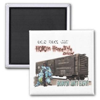 """VIEUX Brew 2"""" de Hobo'in HomeStyle de WAGON Magnet Carré"""