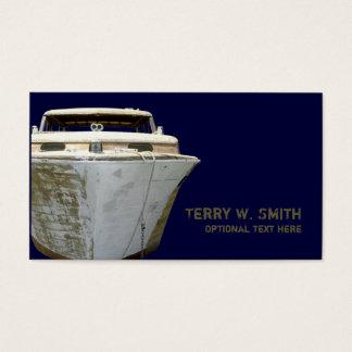 Vieux carte de visite de bateau