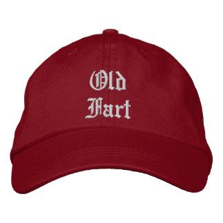 Vieux casquette de laine de pet -- rouge