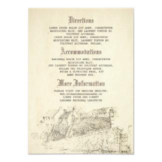Vieux détails de mariage de livre d'histoire - carton d'invitation  11,43 cm x 15,87 cm