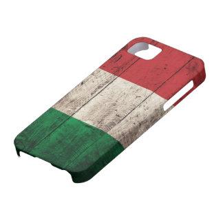 Vieux drapeau en bois de l'Italie Coque Case-Mate iPhone 5