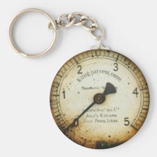 vieux mesure/instrument/cadran/mètre de pression porte-clé rond