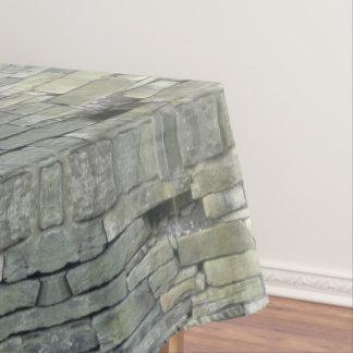 Vieux motif de mur en pierre, nappe rustique