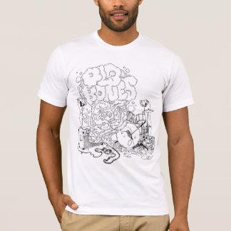 Vieux os fumant le T-shirt d'ampère (logo noir)