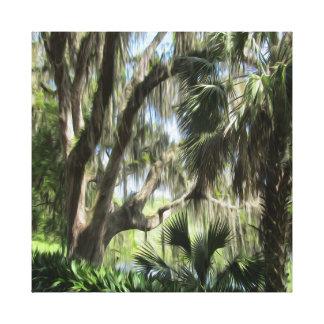 Vieux palmiers de la Floride et copie de toile de