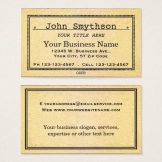 Vieux papier âgé antique simple cartes de visite
