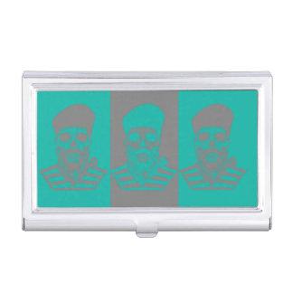 Vieux porte-cartes de carte de visite abstrait de boîtier pour cartes de visite