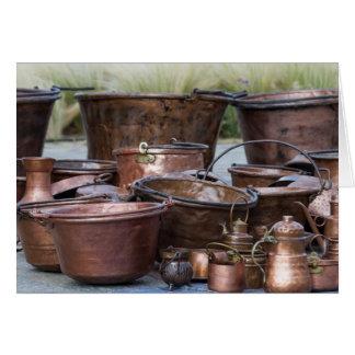 vieux pots et casseroles carte de vœux