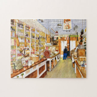 Vieux puzzle de boutique traditionnelle