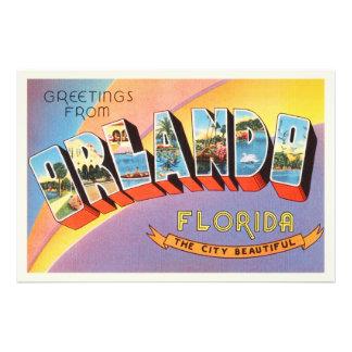 Vieux souvenir vintage de voyage d'Orlando la Photo