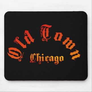 Vieux tapis de souris du feu de Chicago de ville