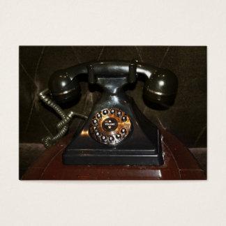 Vieux téléphone commuté vintage cartes de visite