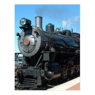 Vieux train un de vapeur d'une séance photos carte postale