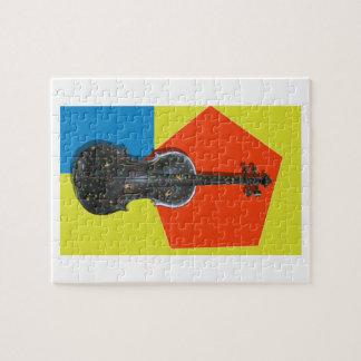Vieux violon peint à la main puzzle