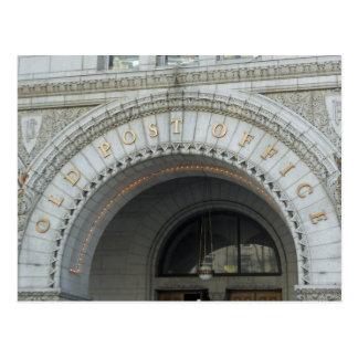 Vieux Washington DC de pavillon de bureau de poste Carte Postale