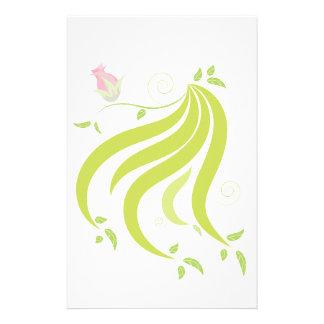 Vigne avec la fleur papier à lettre customisé