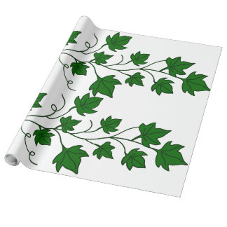 Vigne de feuille de lierre - papier d'emballage papier cadeau