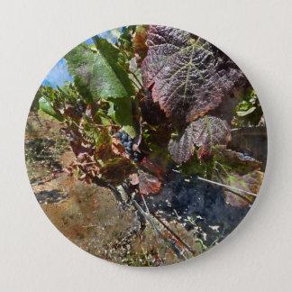 Vignoble dans Napa Valley pendant l'automne Badge Rond 10 Cm