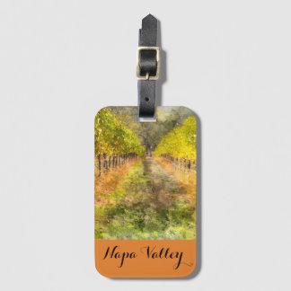 Vignoble de Napa Valley dans l'étiquette de bagage Étiquette À Bagage