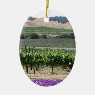 Vignoble de Napa Valley Ornement Ovale En Céramique