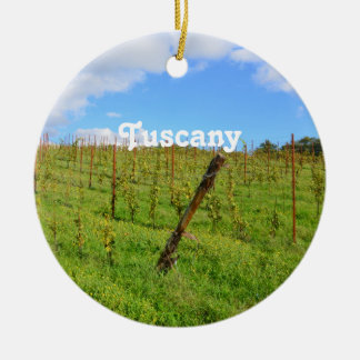 Vignoble toscan ornement rond en céramique