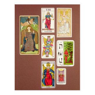 VIII justice, sept cartes de tarot