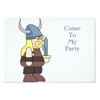 """""""Vikie partie de Viking"""" Carton D'invitation 12,7 Cm X 17,78 Cm"""