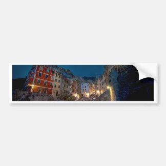 Village de Riomaggiore la nuit, Cinque Terre, Autocollant De Voiture