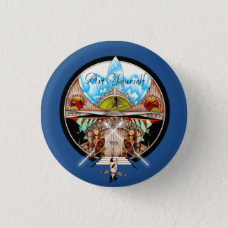Village de Tiki Badge Rond 2,50 Cm