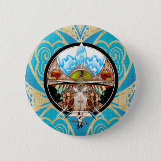 Village de Tiki Badge Rond 5 Cm