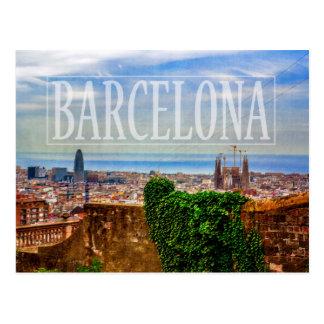 Ville de Barcelone Carte Postale