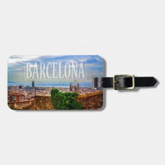 Ville de Barcelone Étiquette À Bagage