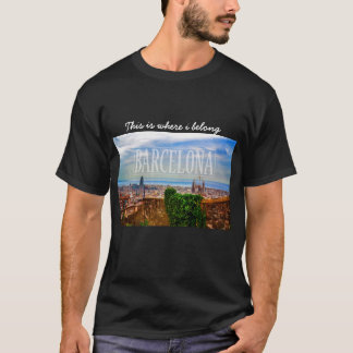 Ville de Barcelone T-shirt