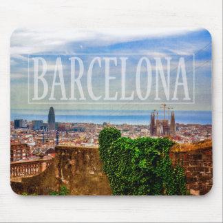 Ville de Barcelone Tapis De Souris