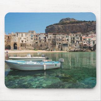 Ville de Cefalu en Sicile Tapis De Souris