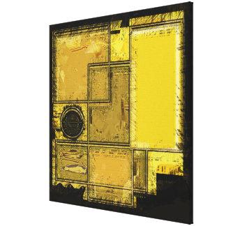Ville de copie de toile d'art abstrait d'or toiles