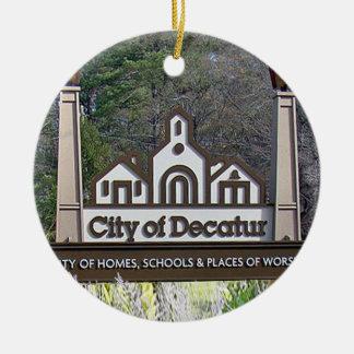 Ville de Decatur, la Géorgie, ornements de Noël