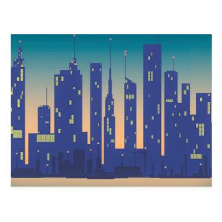 Ville de nuit carte postale